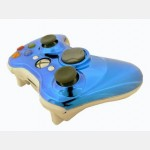 Evolve Face Plate for X360 Controller (Chrome Blue)