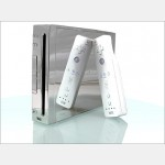 Evolve Silver Shuriken replacement case for Wii with interchangable DVD lights.