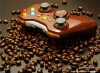 Wireless controller Game Pad shell for Xbox 360 with LEDs (Coffee Brown)