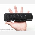 Mini keyboard with mouse pad, 2.4GHz wireless (USB dongle), nordic letters