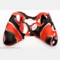 Xbox 360 game pad camo protective rubber jacket, red-black