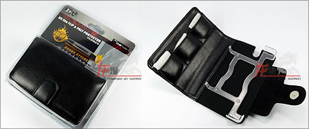 Flip and Play Protector Leather Pouch Blackhorns for NDS Lite