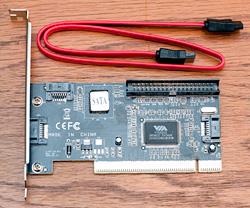 S-ATA (Serial ATA) Controller Card, PCI, VIA 6421A chipset