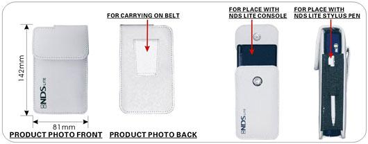 Leather Pocket for NDSL Lite