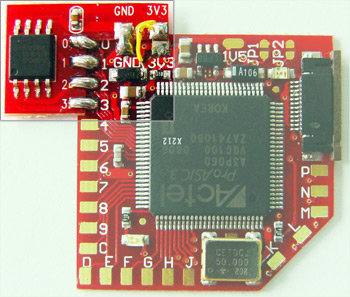 D2Pro SPI Flash add-on - 9 wire installation