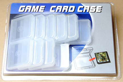 Protective game card case, 10 pcs set for Nintendo game / flash carts