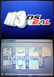 M3 DS Real - screen
