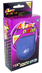Magic Path is allowing Playstation 1 and 2 compatible controllers to be used on the Wii and GC console.