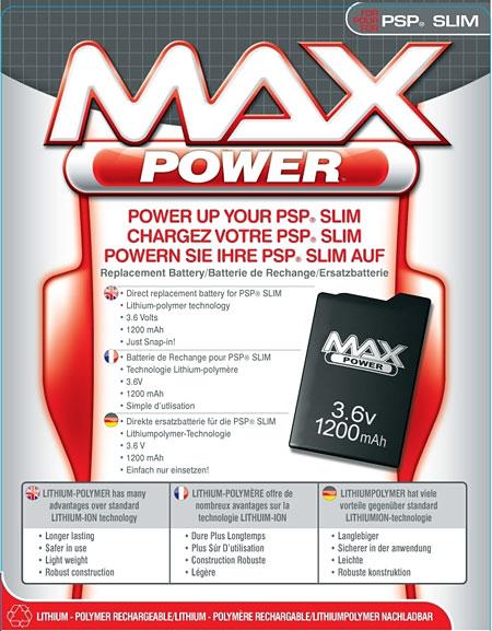 Datel MAX Power Battery for SPS Slim, 3.6v 1200mAh
