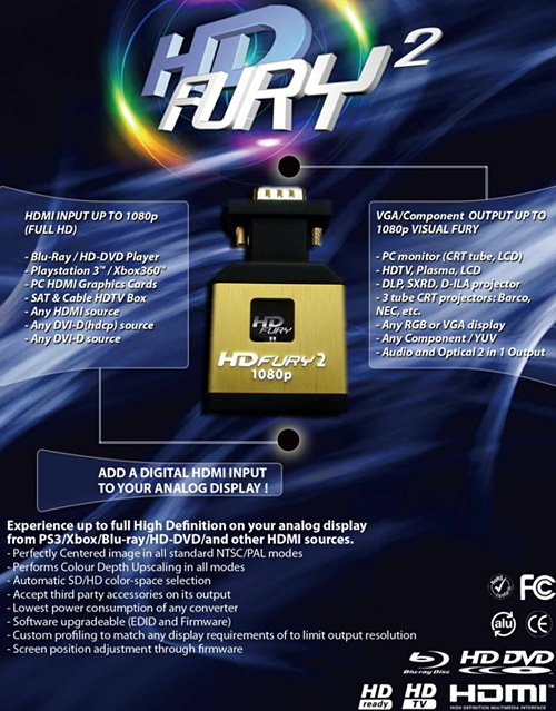 HD Fury 2 HDMI to RGB - Blue Edition