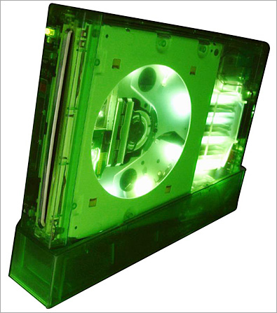 XCM II-Case for Wii, with LEDs, Halo green
