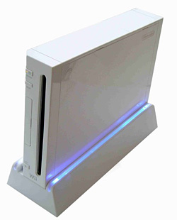 Cooling stand for Nintendo Wii, with fan and neon light, Venom