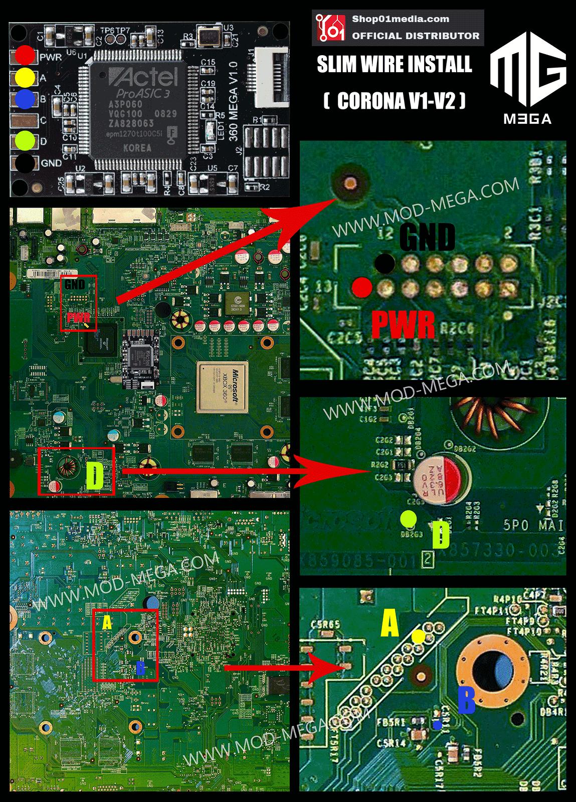 X360 Mega Mod CoolRunner, glitcher mod chip for XBox 360